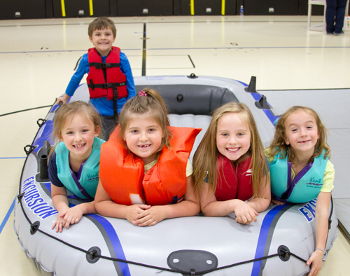 Woodland elementary students learn water, fire, and car safety from