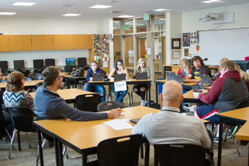 Teachers and staff volunteered to judge each team's debate performance based on a pre-determined set of criteria.