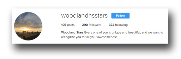 An Instagram account named @WoodlandHSStars spotlights random students at Woodland High School with photos and messages of what makes each student awesome.
