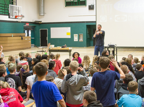 Following the presentation, Chad held a Question-and-Answer session for students and staff members.