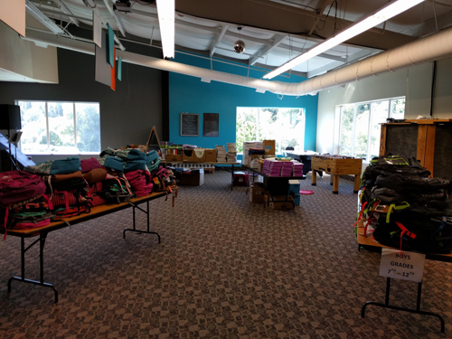 Each student receives a high-quality backpack and can select from a wide variety of school supplies generously donated by community members, along with local businesses and churches from both Woodland and Kalama