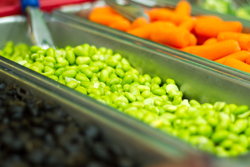"For ""E"" week, Woodland Primary students sampled edamame beans, soy beans typically found in cuisines with origins from East Asia where the pods are often boiled or steamed and served with salt"